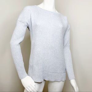 Banana Republic rib knit grey sweater
